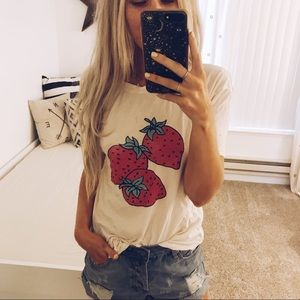 Urban Outfitter Strawberry Graphic Tee